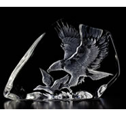 Crystal Eagle Hunting Sculpture