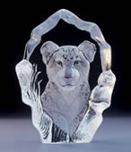 Crystal Baby Lion Figurine