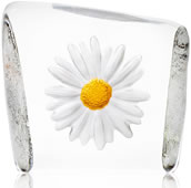 Crystal White/Yellow Daisy Figurine