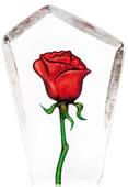 Red Rose Figurine- Crystal