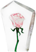 Crystal Pink Rose Figurine
