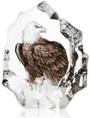 Crystal Bald Eagle Statue by Mats Jonasson