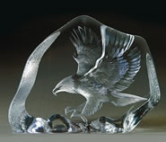 Crystal Bald Eagle In Flight Sculpture