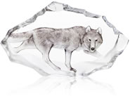 Crystal Wolf Sculpture