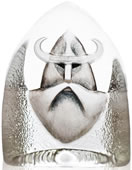 Crystal Viking Figurine
