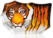 Crystal Tiger Sculpture, Large