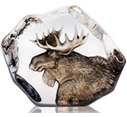 Crystal Moose Statue