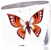 Crystal Butterfly Figurine- Brown/Orange, Small
