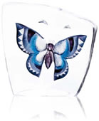 Crystal Butterfly Figurine- Blue/Large
