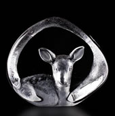 Crystal Fawn Deer Figurine
