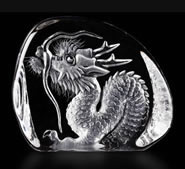 Crystal Dragon Figurine, Small