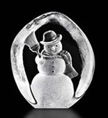 Snowman Crystal Sculpture