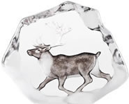 Reindeer Crystal Sculpture