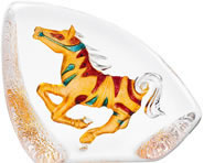 Colored Crystal Horse Sculpture-Large
