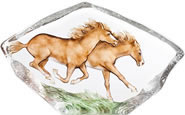 Wild Horses Crystal Sculpture-Large