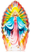 Madonna Crystal Sculpture-Blue/Yellow/Red