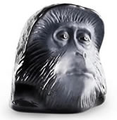 Monkey Business IV Black Crystal Sculpture