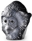 Monkey Business I Black Crystal Sculpture