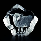 Crystal Sheep Statue