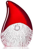 Merry Christmas- Crystal Santa Claus Sculpture, Large