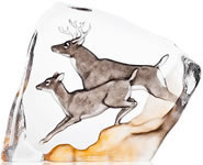 White Tail Deer Crystal Sculpture