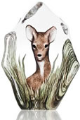 Fawn Deer Crystal Sculpture