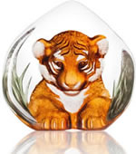 Tiger Cub Crystal Sculpture
