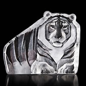 Crystal Tiger Statue
