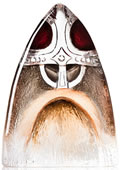 Crystal Viking Sculpture, Red