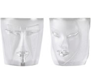 Electra/Kubic Whiskey Tumbler Glasses- 2-Pack, Clear/Small