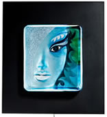 Afrodite, Blue- Framed Wall Sculpture