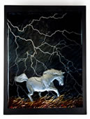 Through Fire and Thunder Horse Wall Sculpture