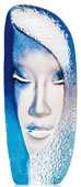 Blue Mystiqua, Crystal Mask Sculpture