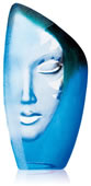 Crystal Blue Masq Sculpture