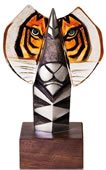 Bengal Tiger- Iron and Crystal Statue