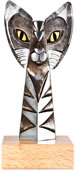 Aristocrat III Crystal Cat Sculpture