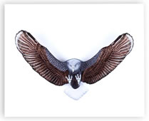 Bald Eagle Painted Crystal Wall Sculpture