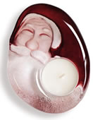 Crystal Santa Claus Tea Light