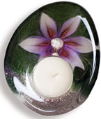 DeLight Crystal Flower Votive/Tea Light, Purple