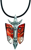 Mefisto Crystal Mask Necklace