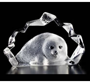 Crystal Baby Seal Figurine III