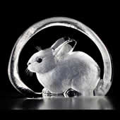 Bunny Rabbit Crystal Figurine
