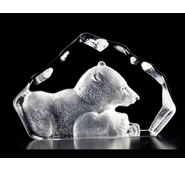 Crystal Baby Polar Bear Figurine