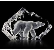 Walking Polar Bear Figurine- Crystal