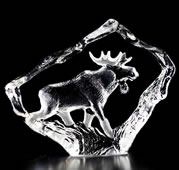 Crystal Bull Moose Figurine