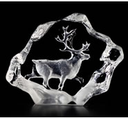 Reindeer Crystal Figurine, Mini