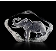 Walking Elephant Figurine in Crystal