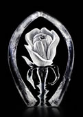 Crystal Rose Figurine