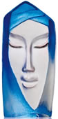Batzeba Crystal Mask Figurine, Blue