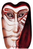 Batzeba Crystal Mask Figurine, Red